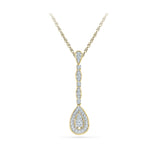 Teardrop Deco Diamond Pendant
