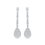 Dazzling Drop Diamond Danglers in 14k and 18k gold