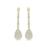 Dazzling Drop Diamond Danglers