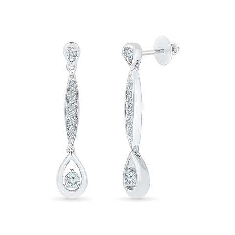 Decadent Drop Diamond Danglers in 14k and 18k gold