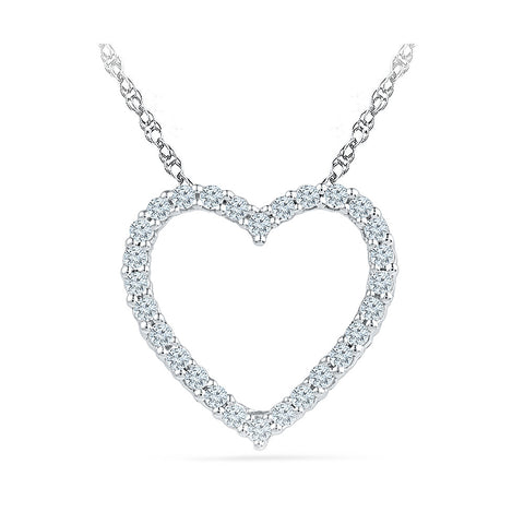 14k and 18k Gold Startling Diamond Heart Pendant in PRONG setting online for women