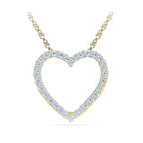 Startling Diamond Heart Necklace