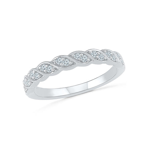 Whirl Twirl Diamond Band Ring