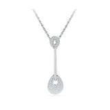 Baroque Teardrop Diamond Pendant in 14k and 18k Gold online for women