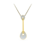 Baroque Teardrop Diamond Pendant
