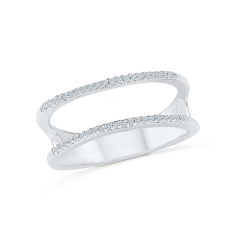 Two Layer Designer Diamond Ring