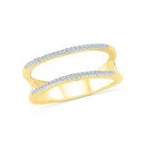 14kt /18kt white and yellow gold Two Layer Designer Diamond Ring in PRONG setting for women online