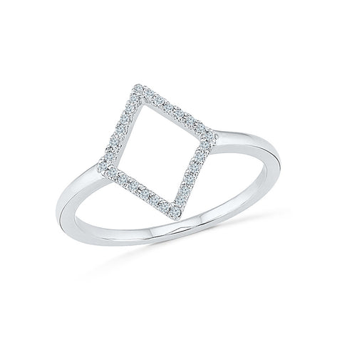 14kt / 18kt white and yellow gold Royal Rhombus  Cocktail Ring  in PRONG for women online