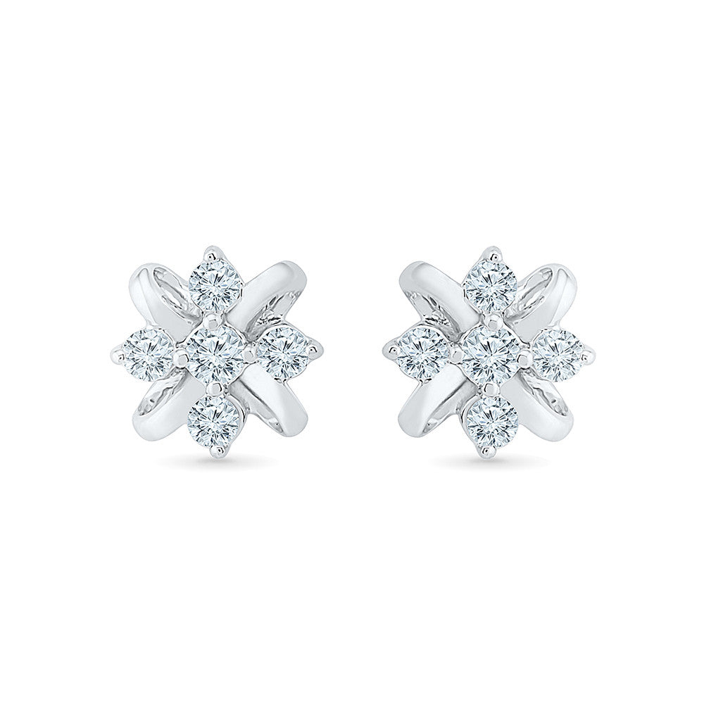1bdbad108 Save · Tiny Flower Stud Earrings in 14k and 18k gold for women online