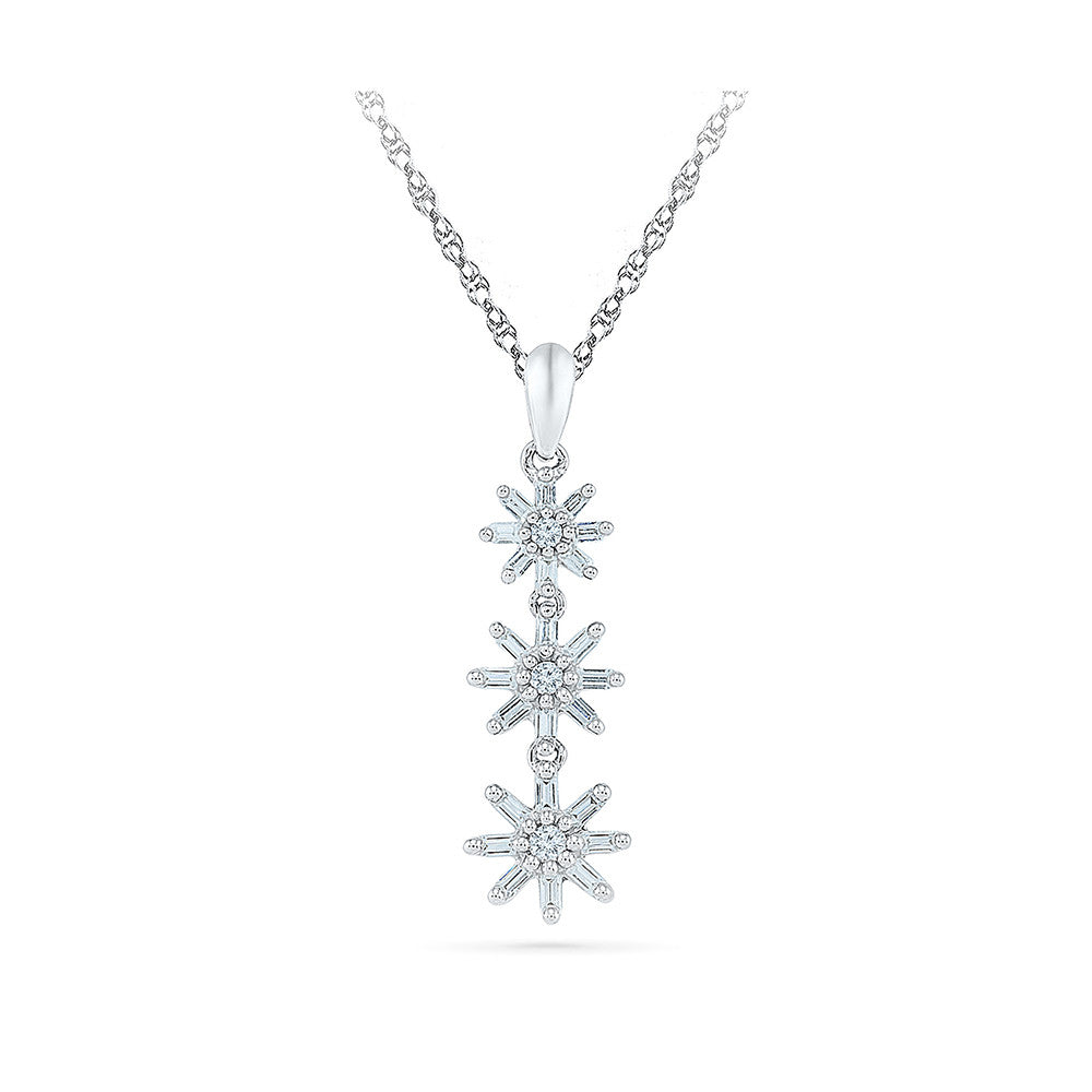 diamonds spray solid white c with gold america pendant miracle diamond products chain in three jewelry