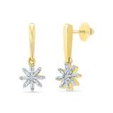 Falling Stars Diamond Drop Earrings