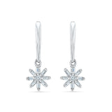 Falling Stars Diamond Drop Earrings in 14k and 18k gold for women online