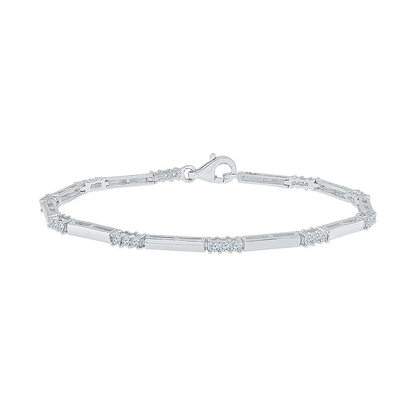 occasion wear diamond bracelet  in white and yellow gold