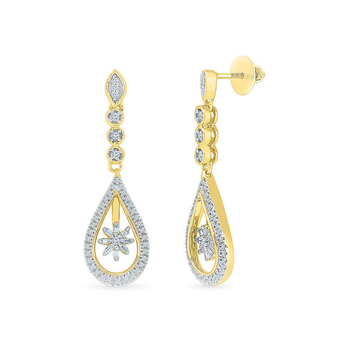 Bijoux Bling Diamond Danglers in 14k and 18k gold for women online