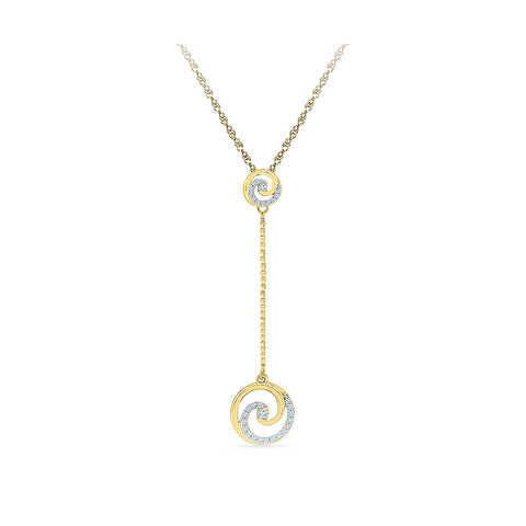 14k and 18k Gold Hypnotic Long Chain Diamond Pendant in Prong setting online for women