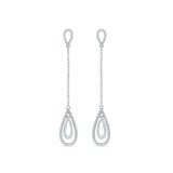 Evening Swank Diamond Drop Earrings