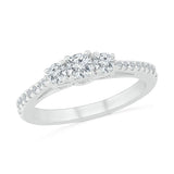 Modern 3 Stone Diamond Ring