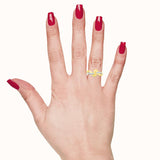 Silky Bold Gold Right Hand Ring
