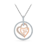 Heartbeat Duo Diamond Pendant