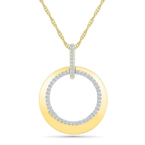 Circle of Life Bold Gold Pendant