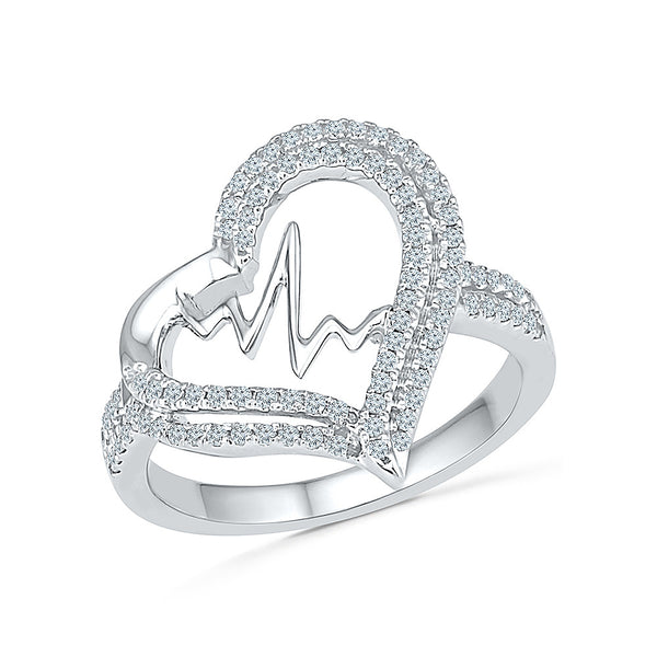 Rhythimic Heart Ring for women online in gold