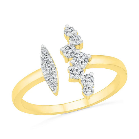 Deconstructed Scattered Diamond Ring