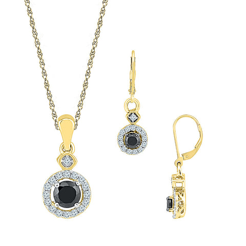 Classic Black & White Diamond Ensemble