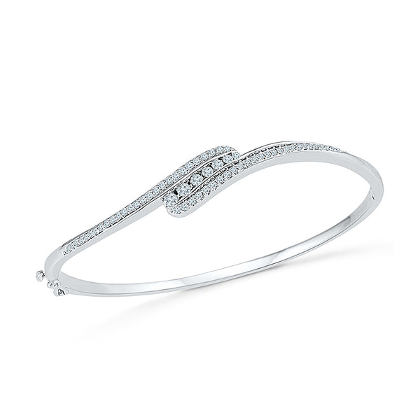 Buy gold simple diamond bangle, perfect for gifting