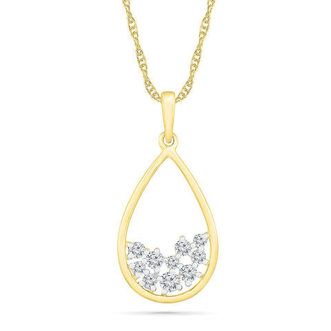 Shining Scattered Diamond Pendant
