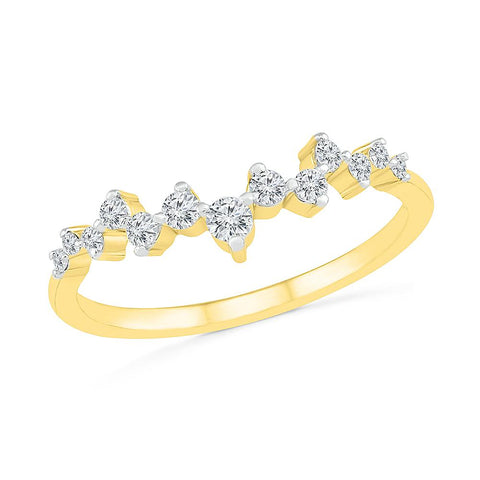 Modest Scattered Diamond Ring
