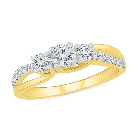 Always charming 3 Stone Diamond Ring