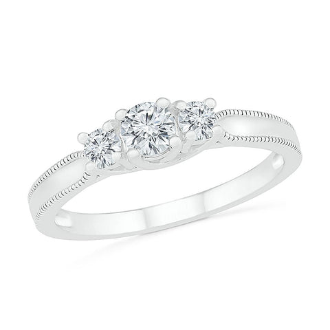 Scintillating 3 Stone Diamond Ring