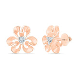 Glorious Bold Gold floral Stud Earrings
