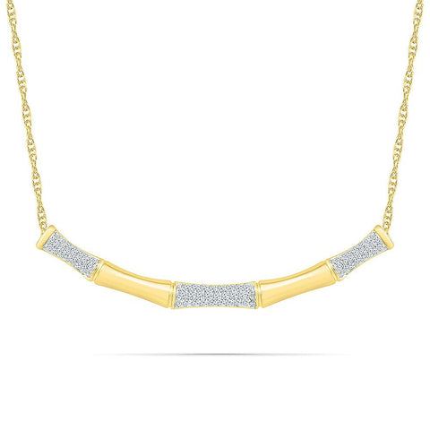 Incomparable Bold Gold Bamboo Necklace
