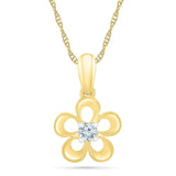 Blooming Beauty Bold Gold Pendant