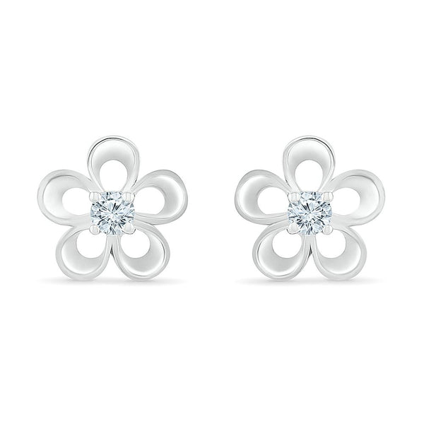 Flower Power Bold Gold Foral Stud Earrings