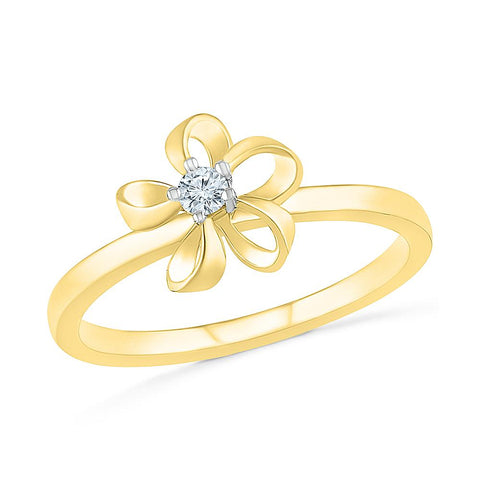Ladylove Floral Bold Gold Ring