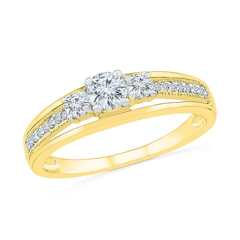 Forever Love 3 Stone Diamond Ring