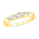 Alluring Scattered Diamond Ring