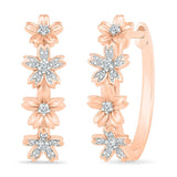 Glamorous Floral Earrings