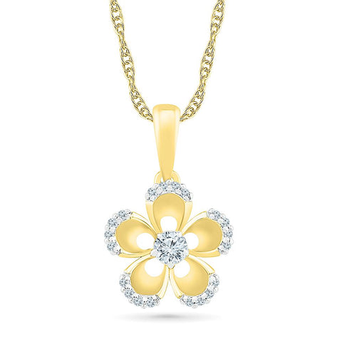 Blooming Bud Bold Gold Floral Pendant