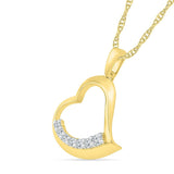 Affectionate Bold Gold Heart Pendant