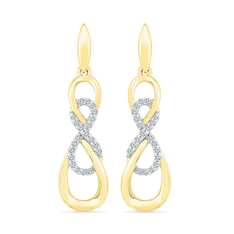 Dapper Dangling Infinity Earring