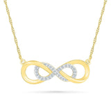 Swirly Infinity Necklace