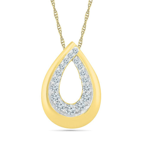 Rain Drop Bold Gold Pendant