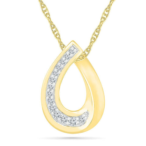 Droplet Bold Gold Pendant