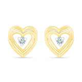 Delightful Love Heart Earrings