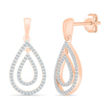 Pear Drop Fashion Diamond Earrings