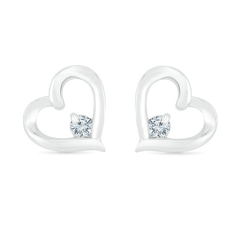 Sparkling Love Heart Earrings