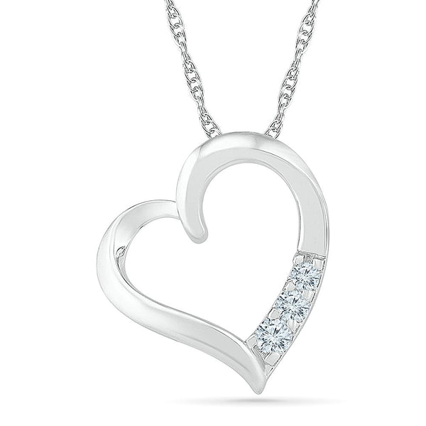 Love Affair 3 Stone Diamond Pendant